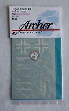 Archer 1/16 Tiger I Tank Markings Sheet #1 s.Pz.Abt.502 Leningrad WWII AR16001