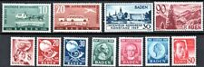 GERMANY 1949 BADEN - FULL SETS + ISSUES - *ALL MINT WITH 1st HINGE*