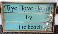 Wooden Live Love Laugh By the Beach Wall Hanging NWOT
