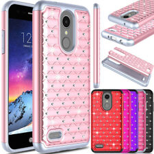 For LG Aristo 2/Rebel 4/Fortune 2/Zone 4 Case Shockproof Bling Hard Phone Cover
