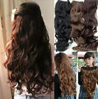 Hot New Full Head Clip Curly Wavy Women Synthetic Hair Extension Hair Accessory