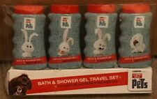 New The Secret Life Of Pets Body & Bath Travel Shower Gel Gift Set - 4 x 75ml.