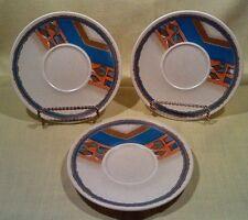Lot Mikasa Indian Feast: Tepee #DE853 4 Saucers Plates Southwest-UNUSED