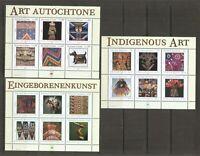 United Nations  SC # NY 836, Geneva 405, Vienna 326 Indigenous Art . MNH