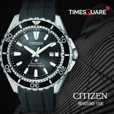 Citizen Black Mens Analog Sport Eco-Drive Promaster BN0190-15E