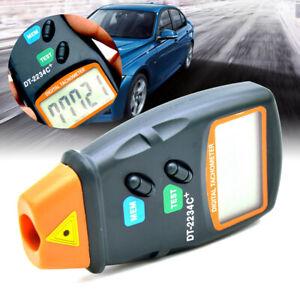 Handheld Digital Laser Tachometer Non-contact RPM Motor Speed Gauge DT2234C