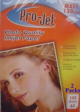 A4 MATT MATTE INKJET PHOTO 130 gsm PAPER 200 Sheets for Inkjet Printer