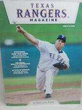 Texas Rangers Program / Magazine Bartolo Colon June 5-17, 2018
