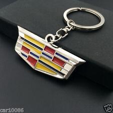 High quality metal car logo Single Side  key chain FOR Cadillac FREE SHIPPING