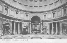 RPPC ROME ITALY PANTHEON INTERNO I REAL PHOTO POSTCARD