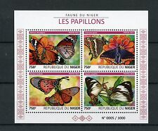 Niger 2015 MNH Butterflies 4v M/S Insects African Monarch Butterfly Stamps