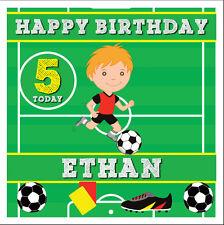 FOOTBALL PERSONALISED BIRTHDAY CARD - SON / GRANDSON / NEPHEW