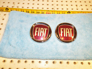 Genuine Fiat 2012 500 coupe front and rear FIAT OEM 1 set of 2 Badges,Fiat 500