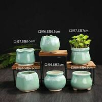 Ceramic Flowerpot Succulent Plant Pot Vase Creative Planter Office Desktop Ornam