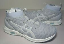 Asics Size 10 HYPERGEL KAN Glacier Grey Knit Running Sneakers New Womens Shoes