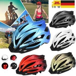 Damen Herren Fahrradhelm Leichter Rennrad Schutzhelm mit Rücklicht Sonnenblende