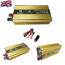 UK Car Boat ModifiedSine 1200W Wave Auto Power Inverter DC 12V to AC 240V USB