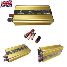 UK Car Boat ModifiedSine 1200W Wave Auto Power Inverter DC 12V to AC 240V USB