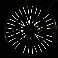 36x Bike Wheel Spoke Reflector Reflective Mount Clip Tube Cycling Accessories LU