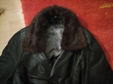 Leder mantel herren mit pelz Kragen Μ-L ( Vintage 70s)
