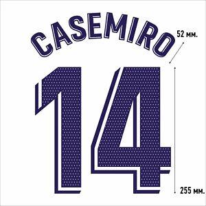 Casemiro 14. Real Madrid Home football shirt 2020 2021 FLEX NAMESET NAME SET