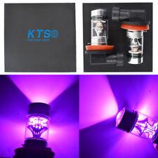 NEW 2x H8 H9 H11 H16 14000K Purple 100W CREE LED Headlight Bulbs Kit Fog Light