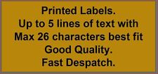 1,000 GOLD Personalised printed sticky labels on a roll - any text you require