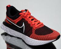 Nike React Infinity Run Flyknit 2 Men's Red Black White Running Jogging Sneakers