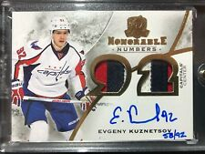 2015-16 The Cup Evgeny Kuznetsov Honorable Numbers Jersey Auto /92