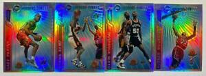 (4) 1996-97 Topps Mystery Finest Refractor Lot w/ Payton Kemp Robinson Mourning