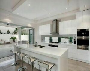 3M MDF 2pc Kitchen with 2M island inc. 40mm Quartz stone top and waterfall $5500