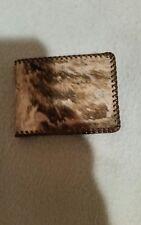Men's billfold wallet Genuine Leather with fur?; Vintage; interesting