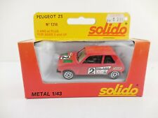 Solido 1316 Peugeot ZS Red in Original Box NIB 1:43 Scale Model