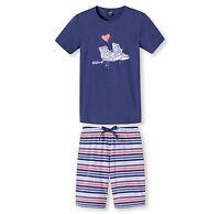 SCHIESSER Mädchen Pyjama kurz gestreift Gr. 140 152 164 176 Schlafanzug kurz NEU