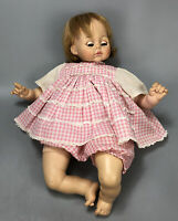 "Vintage 1965 Madame Alexander Pussy Cat 18"" Crier Pink Dress Baby Doll AA"