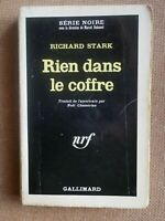 SERIE NOIRE 1025 RICHARD STARK Rien dans le Coffre / Parker EO 1966