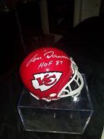 Len Dawson Autographed Chiefs Mini Helmet