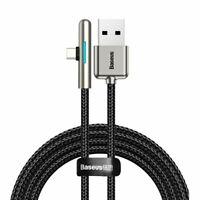 Baseus 90 Grad Nylon USB Typ C Kabel 4A 40W Super Charge Schnellladekabel