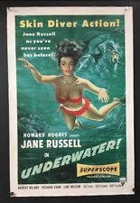 Underwater Original Movie Poster Jane Russell 1955 -   *Hollywood Posters*