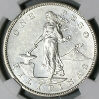 1903-S NGC UNC Det Philippines Peso Silver Coin (20031101R)