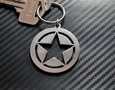 ARMY STAR U.S Military Rank Marine Core Willys Jeep BJ Keyring Keychain Key Fob