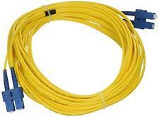 2 X eDragon ED89397 Fiber Optic Cable, SC/SC, Singlemode, Duplex, 9/125, 10m