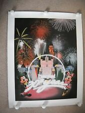 Disneyland 30th Year Lithograph Cast Exclusive 1985 + Pin