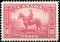 Mint H Canada 1935 VF Scott #223 10c Pictorial Issue Stamp