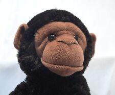 "Plush Baby Monkey Realistic Stuffed Animal Aurora Chimp Soft Ape Black 15"" Zoo"
