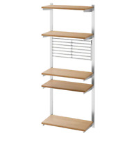 *New*  KUNGSFORS Suspension rail with shelf/wll grid, stainless steel,Ash IKEA