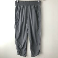 LULULEMON Size CAN 6 AU 10 Yoga Pant Loose Fit Mesh Side Panels Crop Length Grey