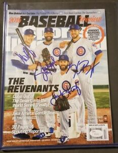 BRYANT, RIZZO, HEYWARD, ARRIETA SIGNED SPORTS ILLUSTRATED CUBS - RARE (NO LABEL)