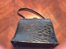 Black Vintage Theodor California Handbag Alligator