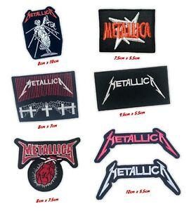 Metallica heavy metal music band badges Iron on Sew on Embroidered Patch